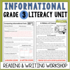 Informational Reading &amp; Writing Unit: Grade 3...40 Lessons