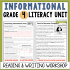 Informational Reading &amp; Writing Unit: Grade 4...40 Lessons