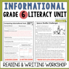 Informational Reading & Writing Unit: Grade 6...40 Lessons