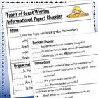 Informational Report Grading Rubric or Student Checklist