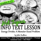 Informational Text Close Reading Activity Hot Topics {Dang