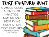 {Informational Text Feature Scavenger Hunt and Posters}