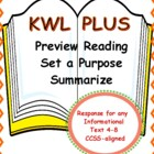 Informational Text Reading Response:  k-w-l PLUS!
