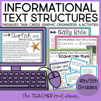 Informational Text Structures: Common Core for 4th and 5th Grades