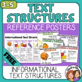 Informational Text Structures Posters and Handout - FREE