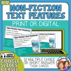 Informational Text Task Cards: 32 Multiple Choice Cards fo
