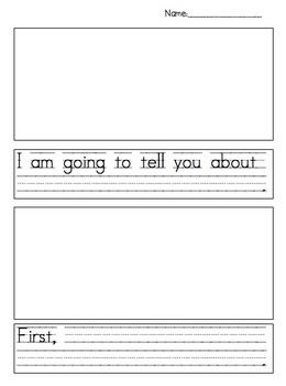 Informational/Narrative Text Writing Paper For Young Learners
