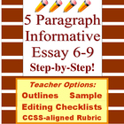 Informative 5 Paragraph Essay 6-10: Prewrite, Draft, Edit,