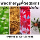Informative Reader's Theater Set 1:  Weather and Seasons