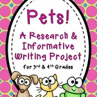 Informative Writing ~ Pet Research Project {Common Core}