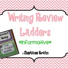 Informative Writing Review Ladder - Zebra Theme
