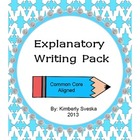 Informative/Explanatory Writing Pack Grade 1
