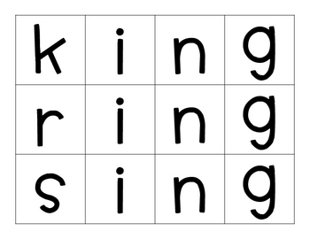 'Ing' Word Family Mini-Pack *FREE*