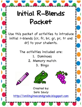 Initial R-Blends Activities