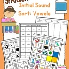 Initial Sound Word Sort - Vowels AEIOU (Spanish)