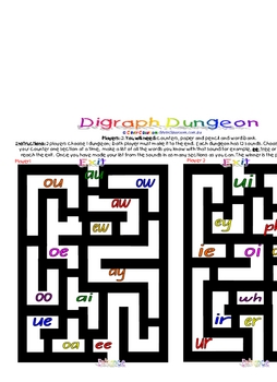 Initial Sounds Board Game & FREE Digraph Dungeon Game - 2pages