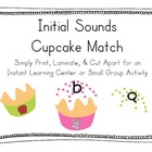 Initial Sounds Cupcake Match!