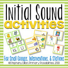Initial Sounds & Letter Identification Activities (Beginni