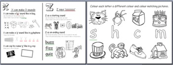 Initial and ending sounds worksheets