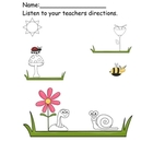 Insect Invasion Listening Worksheet Freebie!