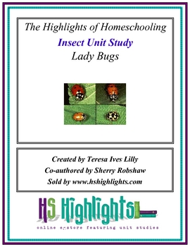 Insect Unit Study: Ladybugs