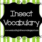 Insect Vocabulary Cards [Education to the Core]