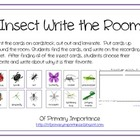Insect Write the Room Literacy Work Station