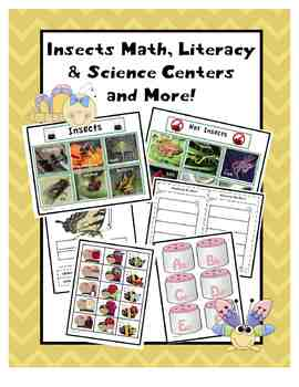 Insects Common Core Based Math, Literacy, & Science Center