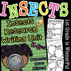 "Insects Writing ""Research"" Unit w/Literacy/Math  Freebie i"