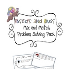 """Insects and Bugs"" Mix and Match Problem Solving Pack"