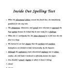 """Inside Out"" Spelling Dictation Test"