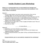 Inside Student Loan 2 hour Work shop/ Presentation