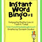 Instant Word Bingo #1