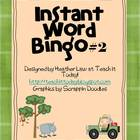 Instant Word Bingo #2