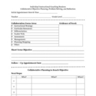 Instructional Coaching Session Planning Form
