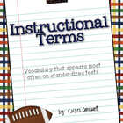 Instructional Terms Sports Themed