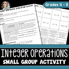 Integer Operations Cooperative Learning Activity