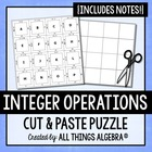 Integer Operations - Notes & Cut-Out Puzzle Activity