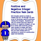 Integer Phrase Task Cards