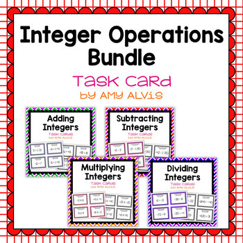 Integer Task Cards Bundle - 144 task cards