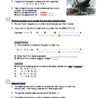 Integers - Comparing and Ordering (Worksheets and Handouts)