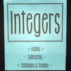 Integers (Foldable)