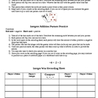 Integers Game and Addition Practice 