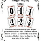 Integers - Playing Cards