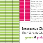 Interactive Classroom Bar Graph Chart - Green & Pink