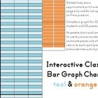 Interactive Classroom Bar Graph Chart - Teal & Orange