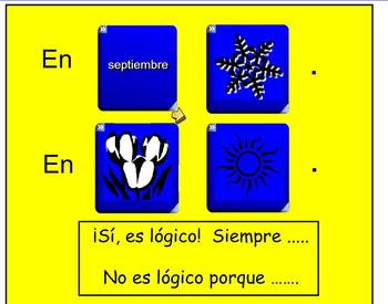 Interactive Dice Spanish Weather Vocabulary Activity with