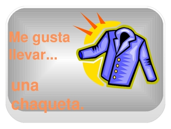 Interactive Digital Spanish Flashcards: Clothing