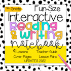 Interactive MINI Reading Journal 5th Grade CC Aligned {ELA}