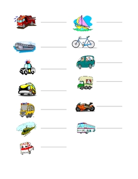 Interactive French Speaking Activity with Transportation V